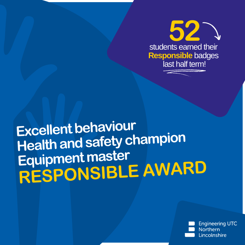 ✨ At the ENL #UTC we are Professional, Responsible and Loyal.  Each term our students have the opportunity to be awarded for their Responsible behaviour throughout our classrooms, workshops and labs 👩🔧🧑🔧  Find out more about 'Our Way' here -