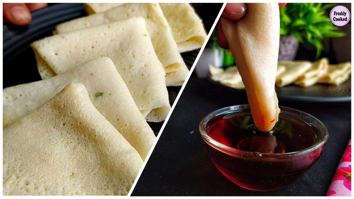 "Soru chakli is a winter pitha .... we bengalis love to make it on ""Poush Sankranti "" ..... It is basically a crepe made with rice and lentil ..... Tastes best when you consume it with gur #MakarSankranti #pitha #soruchakli #bengalipithe #foodrecipe"