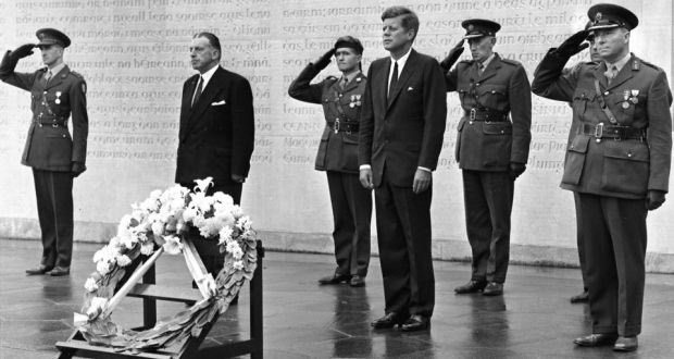 "JFK was also inaugurated on this day 60 years ago. RIP  He too believed in Irish Unity and laid a wreath at the graves of the leaders of The 1916 Rising while in Ireland.  ""No people ever believed more deeply in the cause of Irish freedom than the people of the United States."""