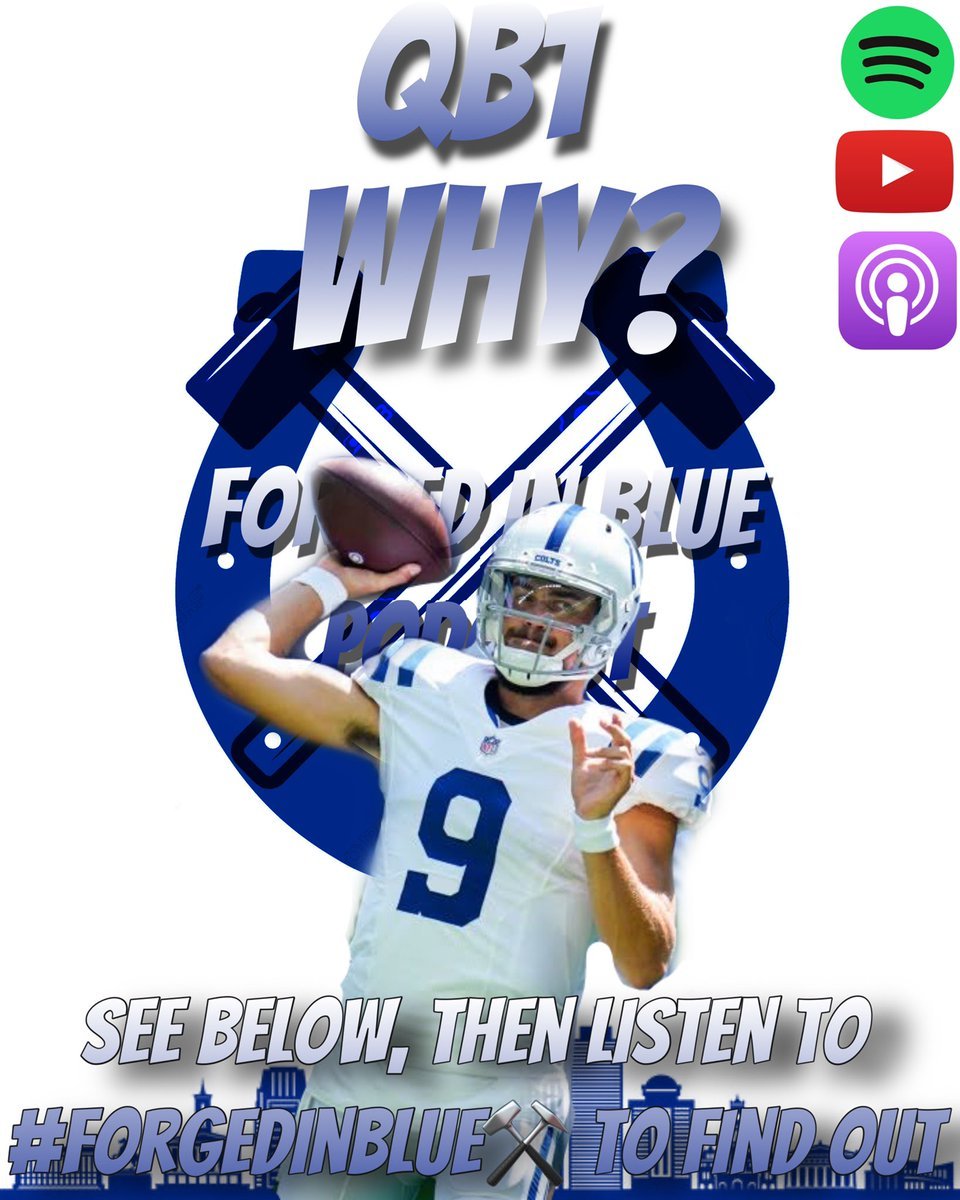 #ColtsNation   For those asking the question...  Why are you so high on Eason?  I talk about it on the #ForgedinBlue⚒️ Podcast but here are some reasons.         #ForgedinBlue⚒️ #ForTheShoe #LEO