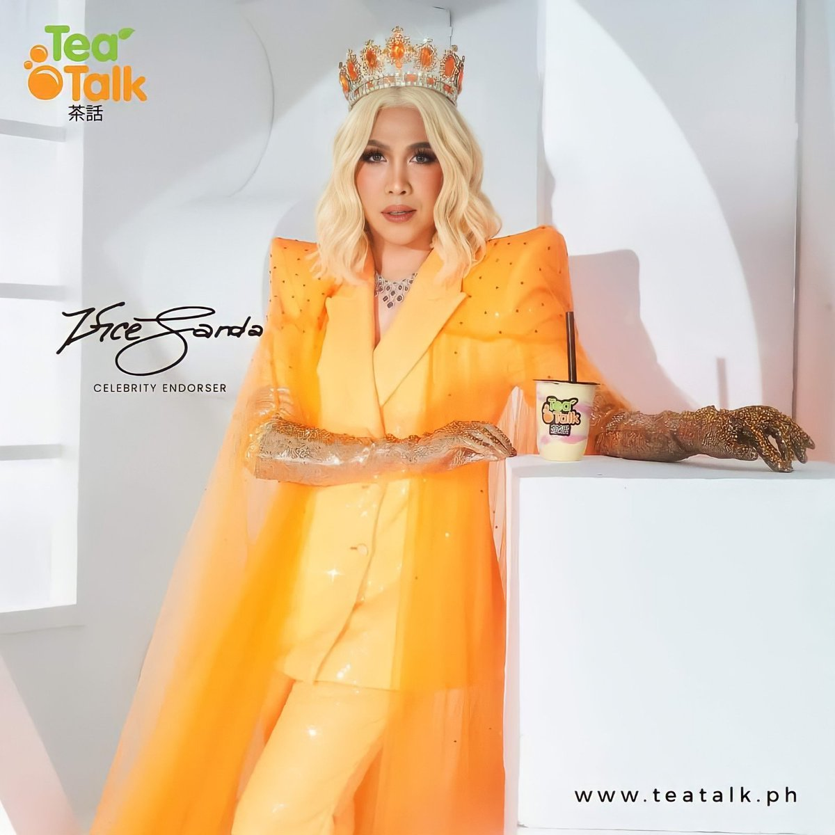 A QUEEN, YES NO DOUBT LOVE U BEAUTIFUL U @vicegandako 👑🧡