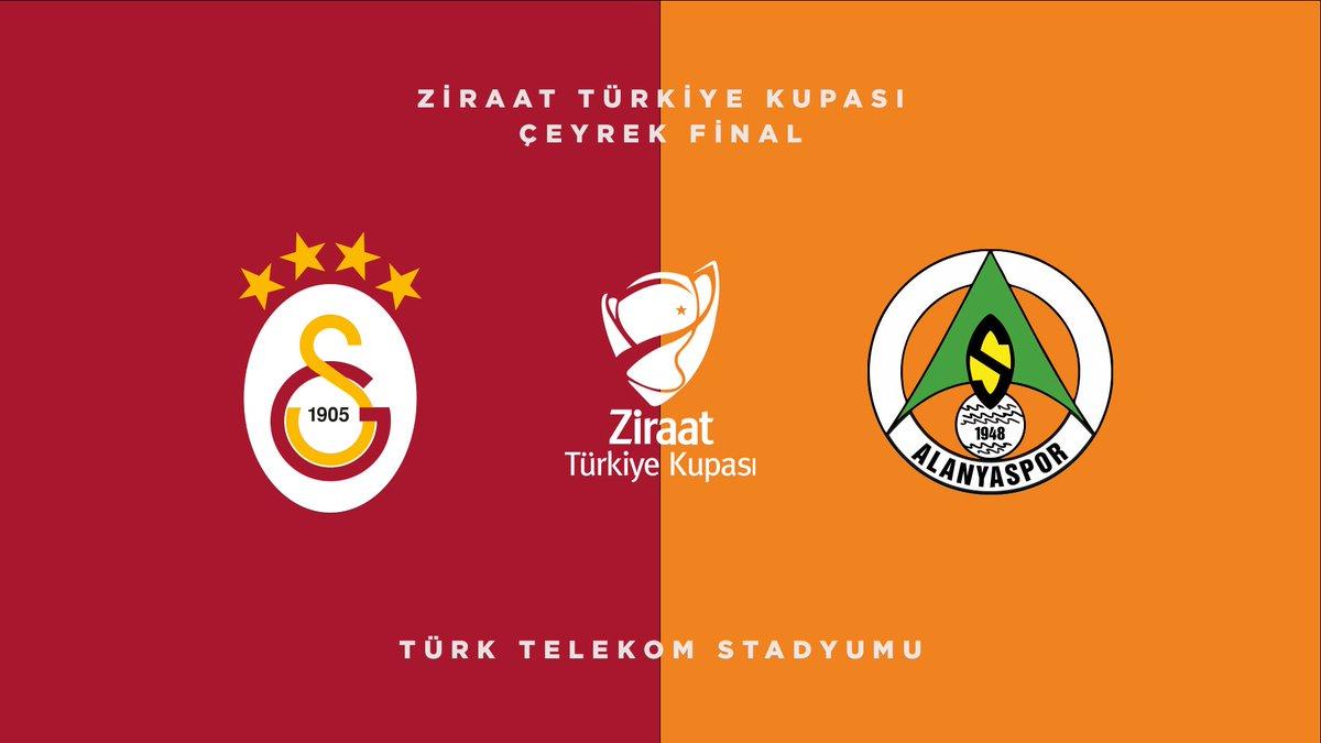 Ziraat Türkiye Kupası Çeyrek Finali'nde program belli oldu. Galatasarayımız, 10 Şubat 2021 Çarşamba günü Türk Telekom Stadyumu'nda Aytemiz Alanyaspor ile karşı karşıya gelecek. https://t.co/wyVGCxgrnt