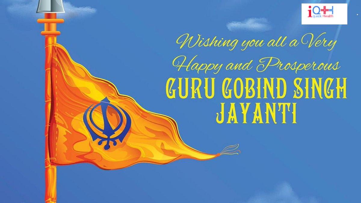 May Guru Govind Singh Ji gives you, the courage and strength to fight the evil, and always stand by the side of truth. Happy Guru Gobind Singh Jayanti! #GuruGovindsinghJayanti #iQH #waheguru #gurugobindsinghji #ji #khalsa https://t.co/6R3pvWBRcI