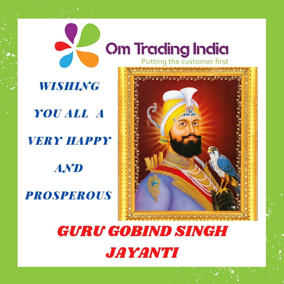 Omtrading India wishes you Happy guru Govind Singh Jayanti ♥️  Follow - @omtradingindia website - https://t.co/XTnTWVxBUf #omtradingindia #printindiamart  #ohmanykart #gurugobindsinghji #jayanti #gurugobindsinghjayanti #waheguru #like #share #follow #gobind #dmifyouwant #dmfor https://t.co/qIuUBFR8MC