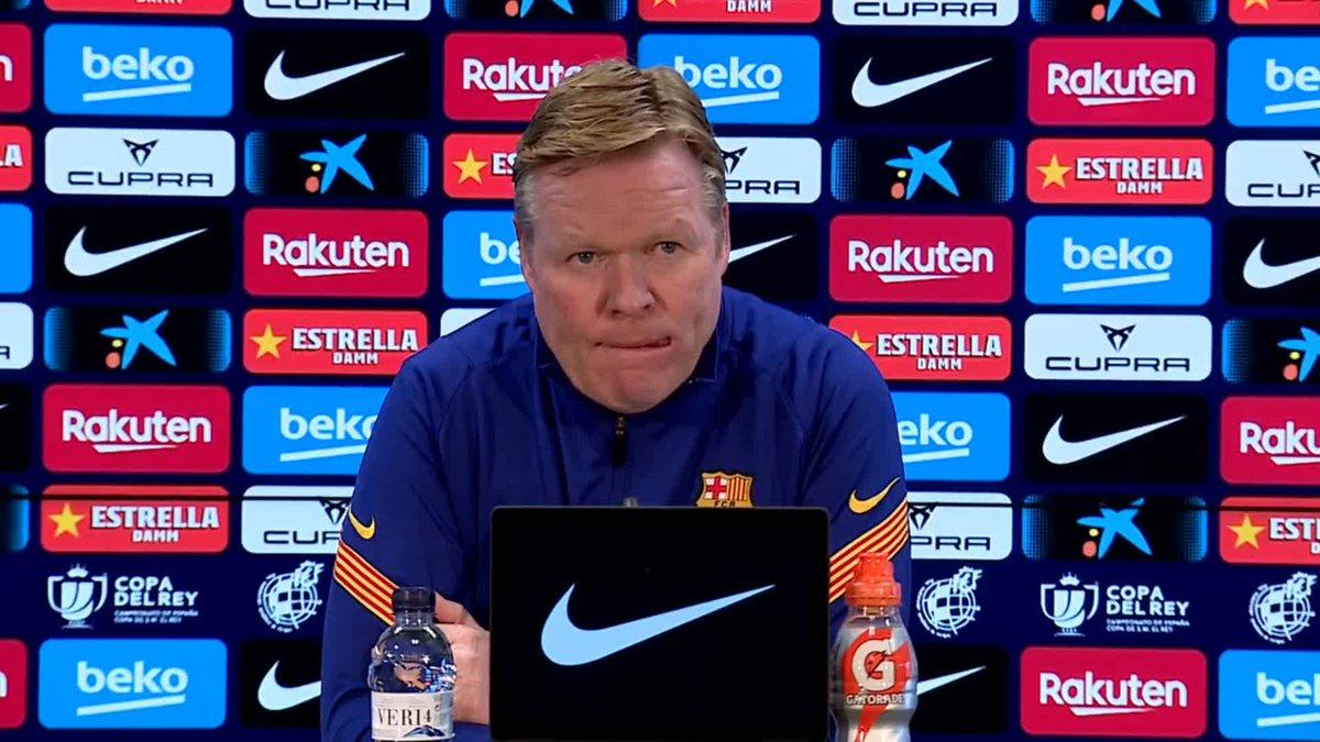 ⚡ LIVE NOW! ⚡ @RonaldKoeman press conference ahead of #CornellàBarça in the Copa del Rey!  🖥 Barça TV+: