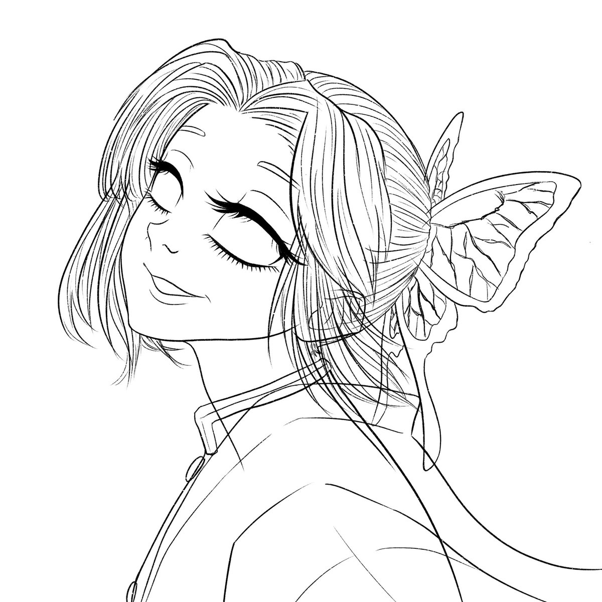 Update: Finished the lineart! 🦋
