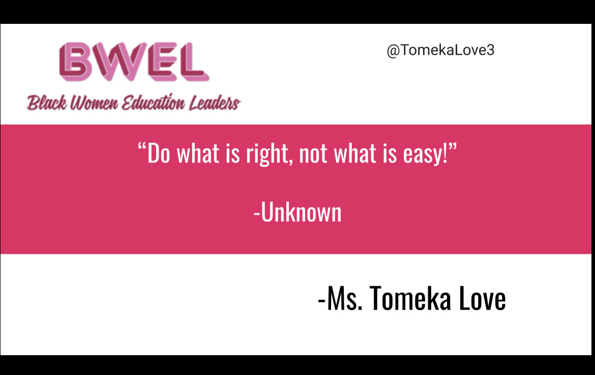 🎉Thank you for sharing your #WednesdayWisdom with us! @TomekaLove3 👏🏽👏🏽👏🏽 #BWEL