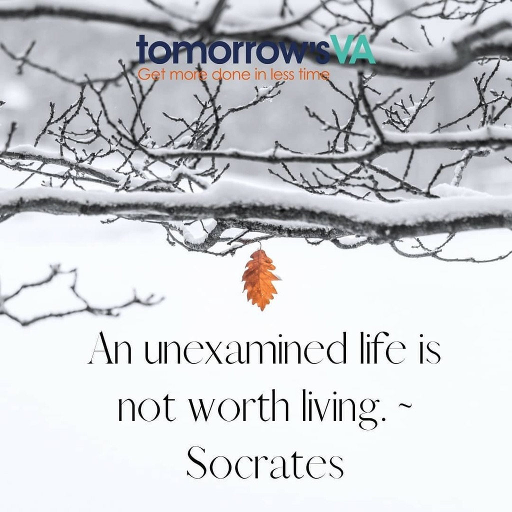 """""""An unexamined life is not worth living."""" said Socrates #wednesdaywisdom #va #learn #motivation #proverb #quote"""
