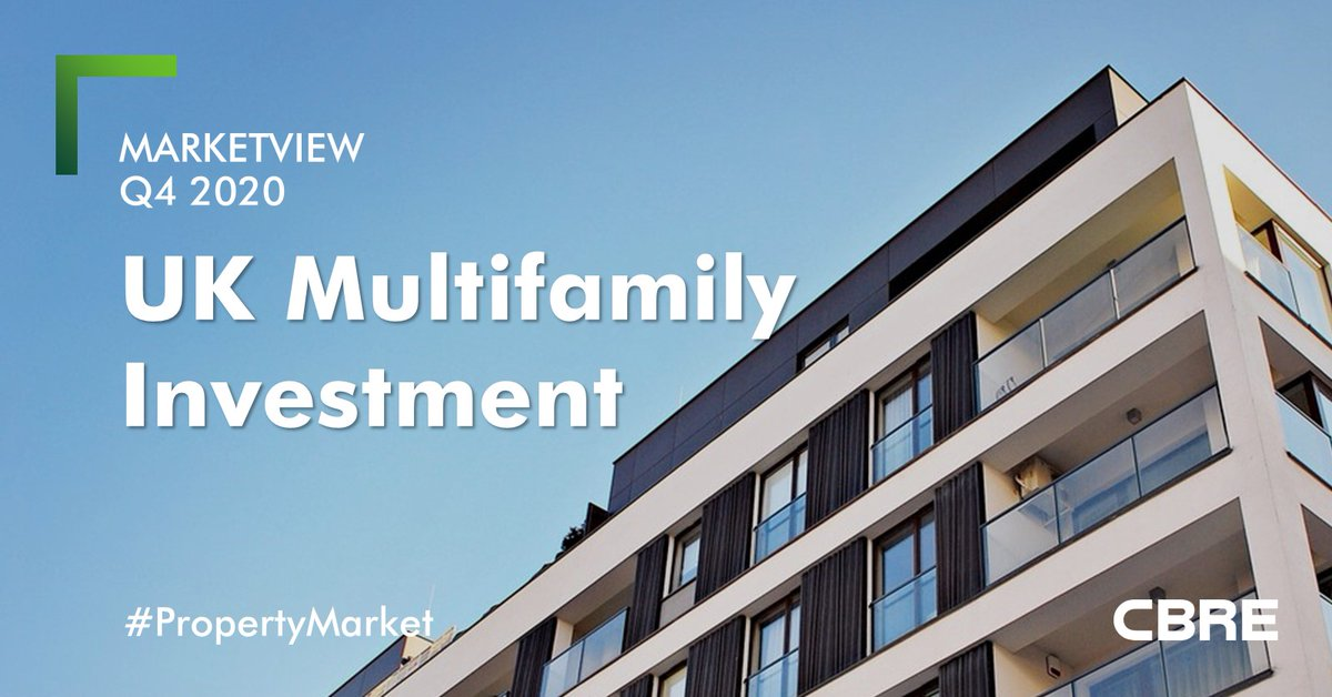 The UK #Multifamily sector saw a strong end to the year in 2020; we recorded £955.7m of investment in Q4 2020. Uncover how the sector reached a record high year in our #Residential #Investment Marketview Q4 2020: https://t.co/bVSuA1FYk5 #PropertyMarket https://t.co/gMRZbbGnub
