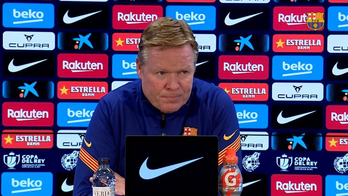 """🔊 @RonaldKoeman: """"Siempre tenemos ojos en el Barça B para dar paso a gente que creemos que puede ser el futuro"""" #ForçaBarça 🔵🔴"""