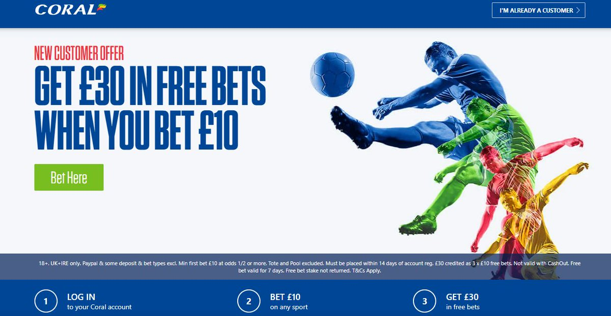 Betting with Coral #WednesdayMotivation  🟤New Customer Sign Up Offer 🟤Bet just £10 & Get £30 In Free Bets  🟤Offer Link below 🔸  begambleaware 18+ T&Cs Apply #Betting #MCIAVL #FULMUN #FPL #Bundesliga #championship #premierleague #PL,5