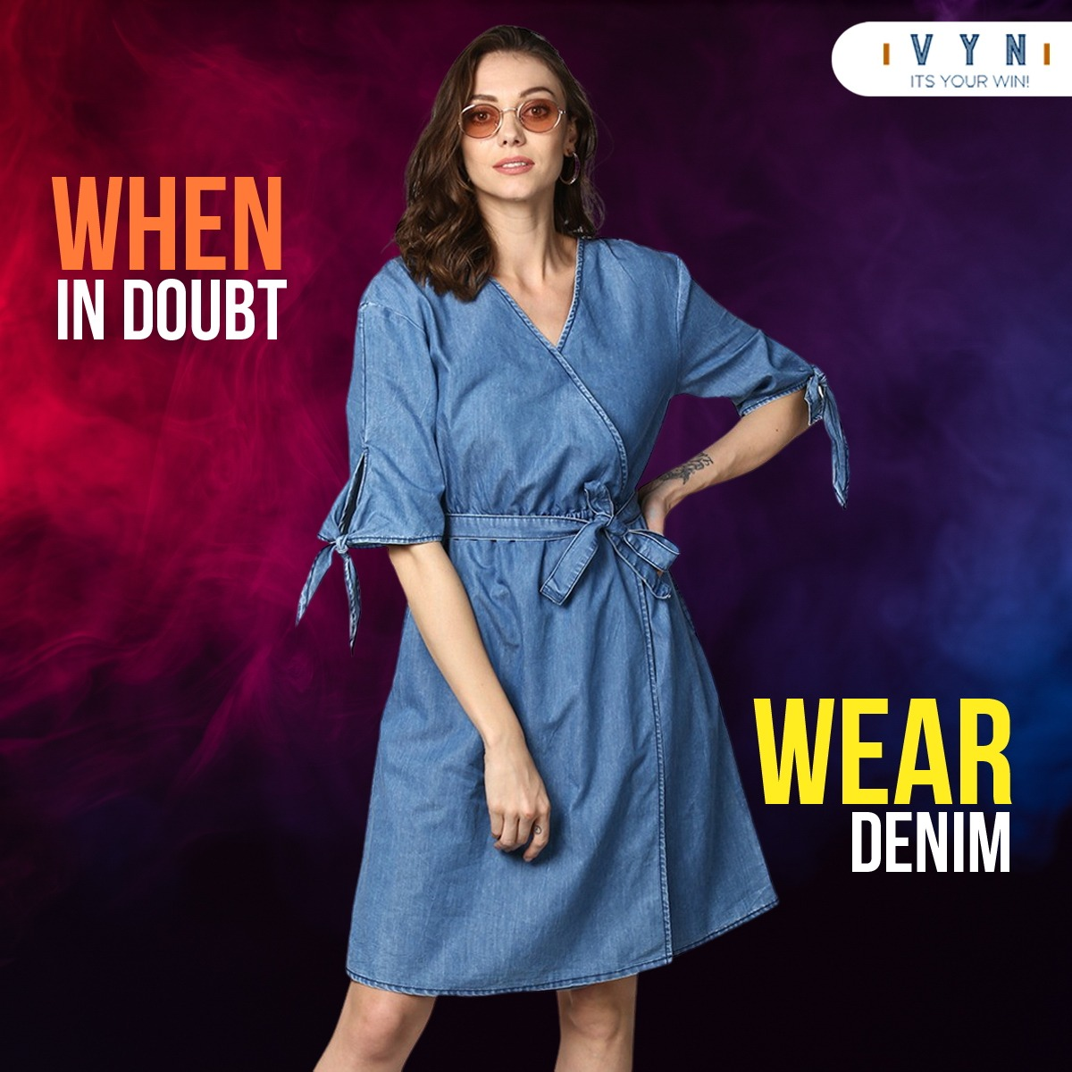 Understated, uncomplicated and unbelievably versatile - denim dresses can take you smoothly in style through the season. . . . #VYN #VYNFashion #VYNClothing #denim #jeans #fashion #style #ootd #denimjacket #vintage #love #moda #outfit #fashionblogger #instafashion #onlineshopping https://t.co/hNPocBJ4RZ