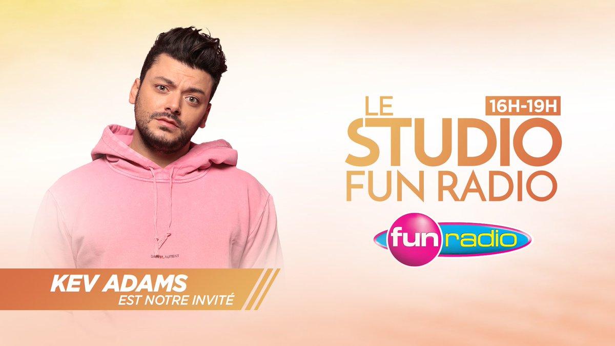 👉 Aujourd'hui dans Le Studio Fun Radio @kevadamsss sera notre invité pour nous parler de son show en livestream avec @gadelmaleh ♥️