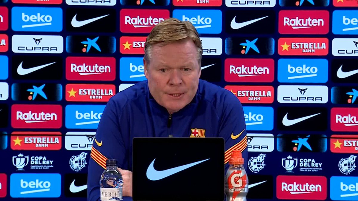 """🔊 @RonaldKoeman on #Messi's two-match suspension: """"There are things that can be defended. I hope the suspension is reduced"""""""