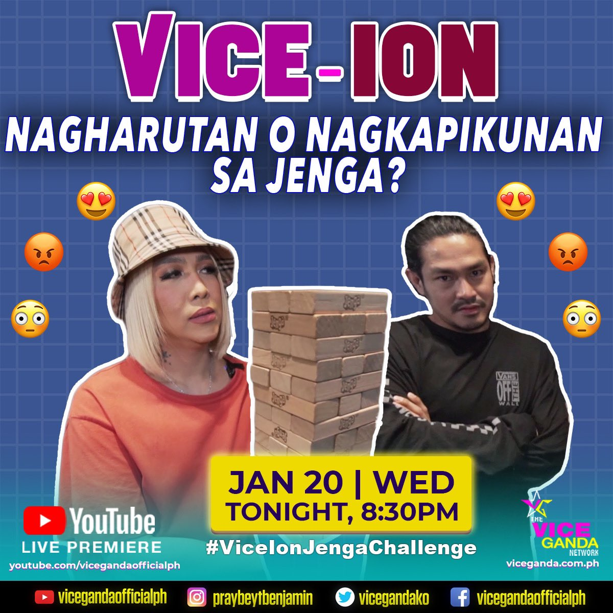 LARO-LARO LANG NG JENGA, WALANG PIKUNAN! New vlog chunyt at 8:30PM sa Vice Ganda Youtube Channel! #ViceIonJengaChallenge