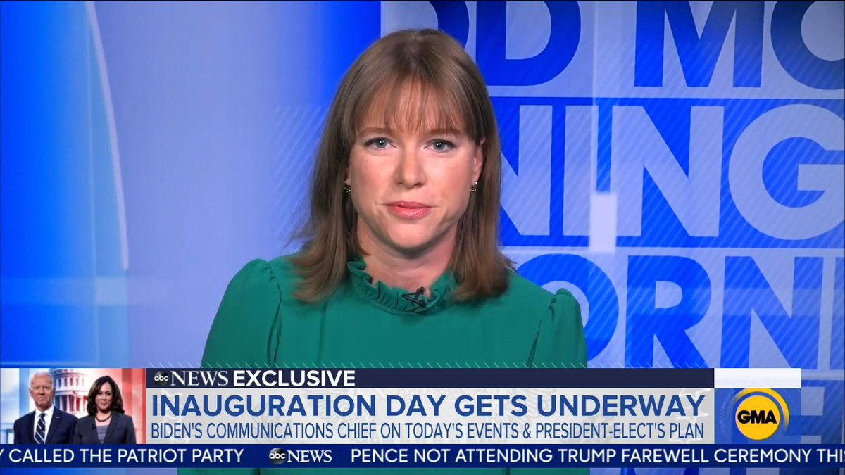 """George Stephanopoulos: """"Has Joe Biden had any contact at all, direct contact, with President Trump?""""   Kate Bedingfield, Biden's incoming communications chief: """"He has not, no""""   #Biden #Trump #PoliticsLive #BidenCrimeFamilly #ImpeachmentDay"""