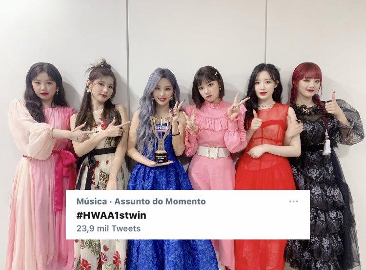 """[📑] """"#HWAA1stWin"""" está nos Assuntos do Momento com mais de 23 mil tweets!   #GIDLE #여자아이들 @G_I_DLE"""