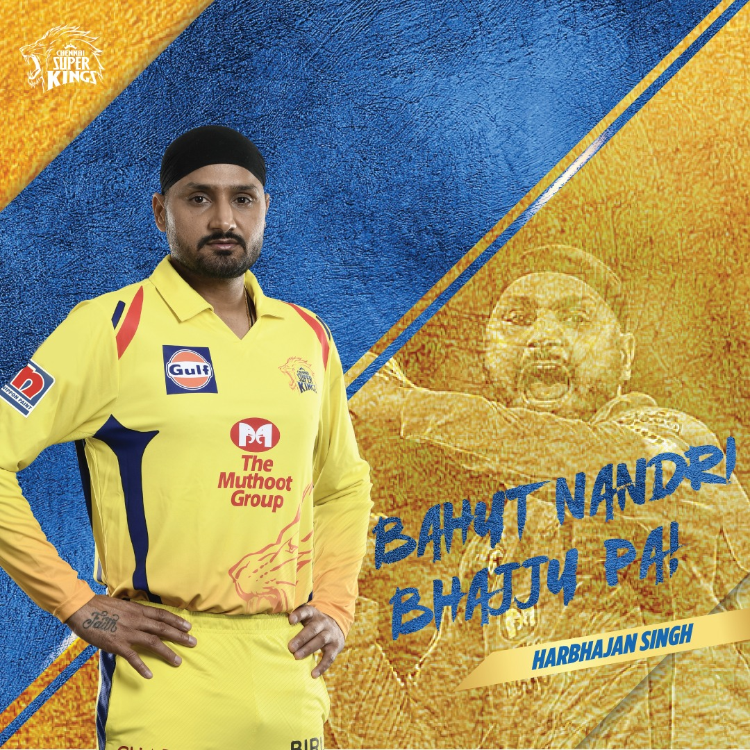 Thank you for all the #Yellove outings, Bhajju pa! Keep spreading the Pulamai, everywhere you go! #WhistlePodu 💛🦁 @harbhajan_singh