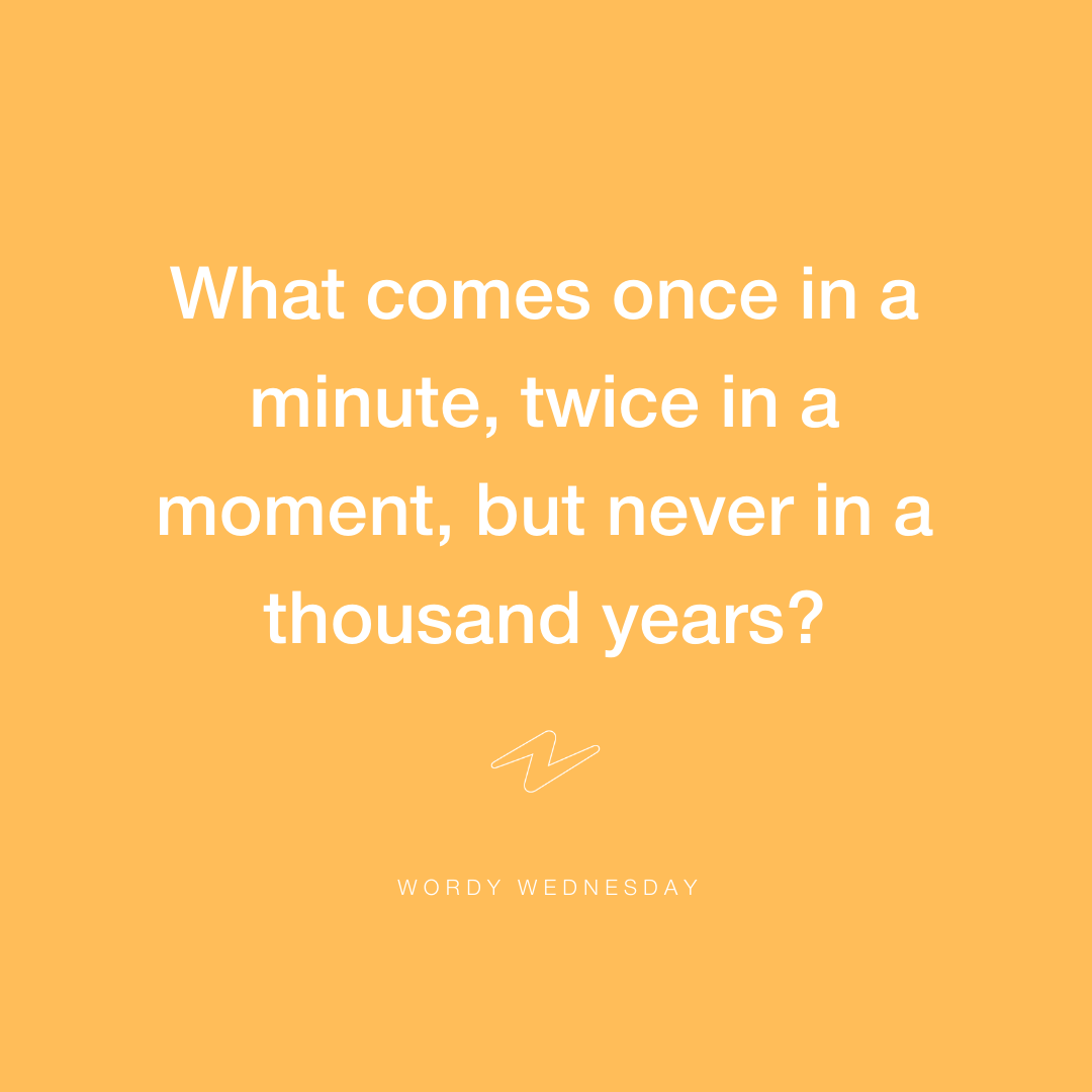 A little challenge to get you thinking this Wordy Wednesday. Can you work this one out? Leave your answers in the comments and we'll reveal the answer later today. Psssst… the first people to get it right might even get a little treat to their inbox!