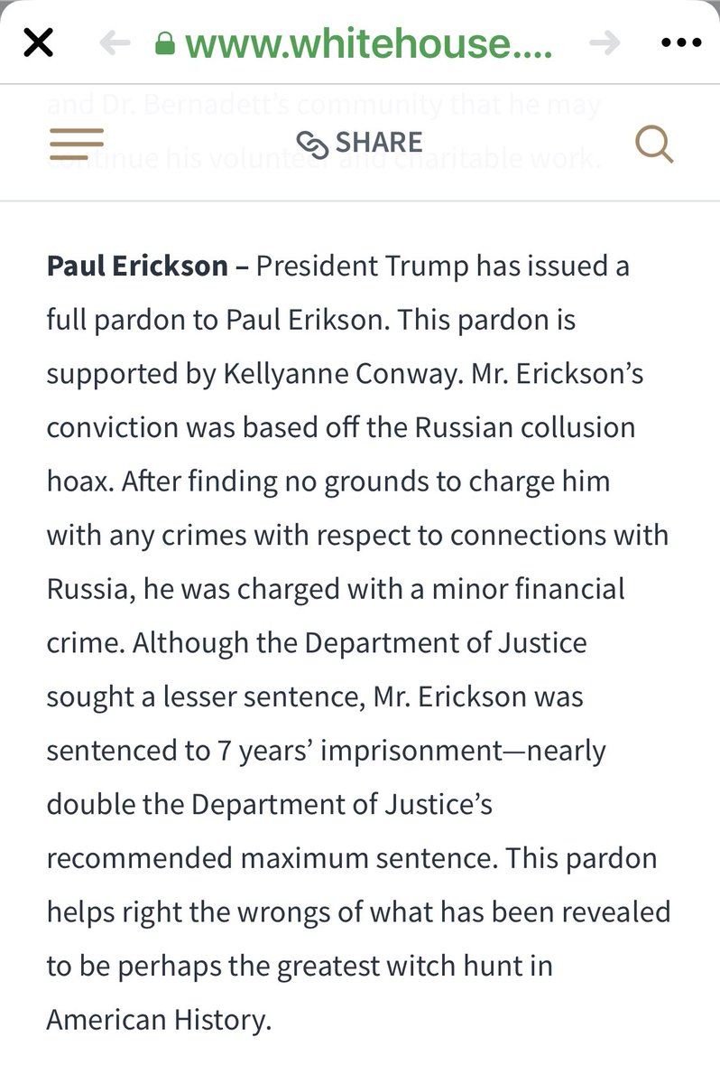 "Love the ""justification"" for this one. God knows how much cash Trump made. #Pardons #TrumpTreason"