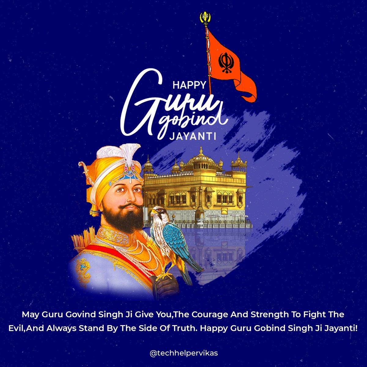 Waheguru Ji ka khalsa, Waheguru ji ki fateh. Happy Guru Gobind Singh Jayanti to you and your family. #gurugobindsinghjayanti #gurupurab #GuruGobindSingh #gurugobindsinghji https://t.co/owA2YxDzxJ