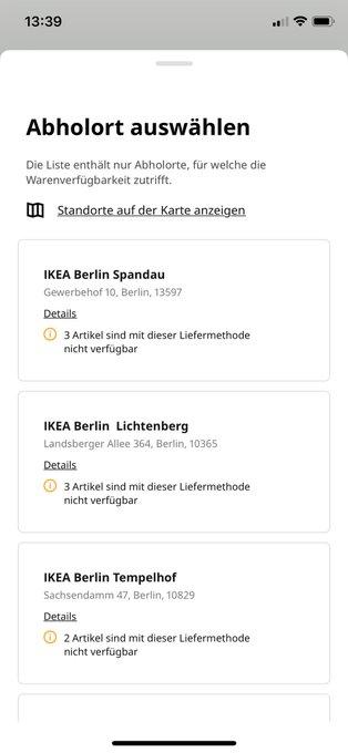 Ist #Ikea leer gekauft??? #Kallax gibt es aber auch nicht mehr in Rostock oder Leipzig! https://t.co