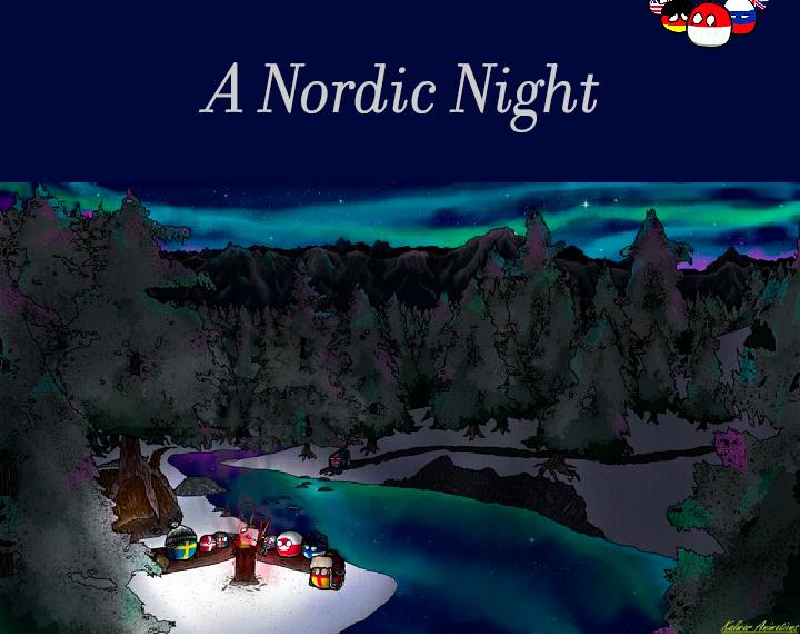 A Nordic Night 🌠  #Country #Balls #CountryBalls #CountryBalls2021 #Country2021 #Balls2021 #Country #Night #BeautifulNight #NordicNight