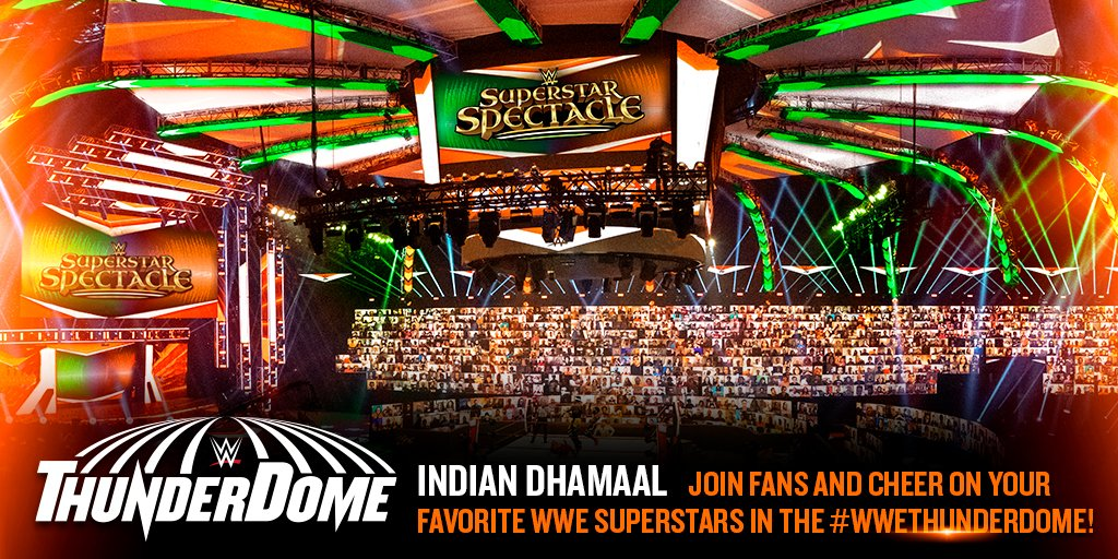 Join fans in the #WWEThunderDome for #WWESuperstarSpectacle!   Register now for your virtual seat at