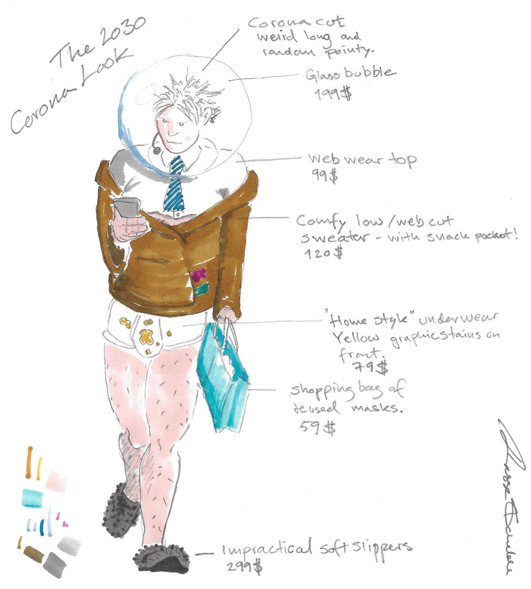 Hey #Fashionistas! Here is my #fashion prediction for 2030 when the Corona-vintage style returns. Brace yourself for a FULL year collection. Think into the bubble! #OOTD #FashionBlogger #style. #StreetStyle #2030 #OutfitIdeas @fashionpressnet https://t.co/FXTY0ZPq7s