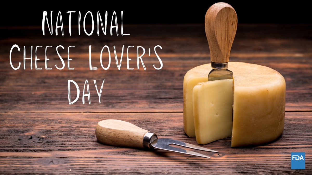 If you're a cheese lover then today's your day, BUT make sure it's pasteurized cheese to avoid foodborne illnesses.   #NationalCheeseLoversDay 🧀