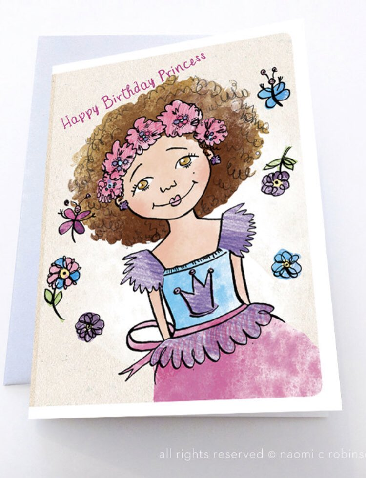 Sending #BirthdayWishes to a  super sweet #Princess in Kent! Shipping today https://t.co/Ug0wOCo5BT  #shopindie #shopsmall #justacard #EtsySocial #BlackOwnedBusiness #greetingcard https://t.co/5lTMiDmg1t