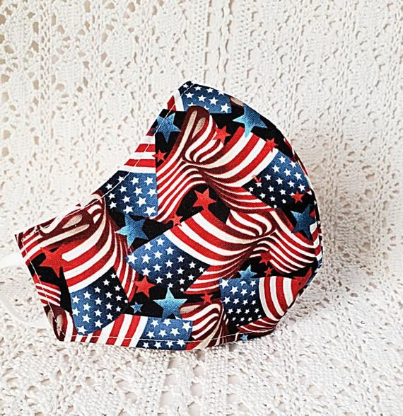 Patriotic Flag Face Mask - American Flag - Stars Stripes - Old Glory - Red White Blue Cotton Adjustable Fitted #Facemask Women Handmade USA https://t.co/r94wKJKFY1 #etsyshop #etsyhandmade #shopsmall #facemasks #facemasksforsale #birthdaygift #boutiqueshopping #giftforher #Sale https://t.co/10ErSQcIYw