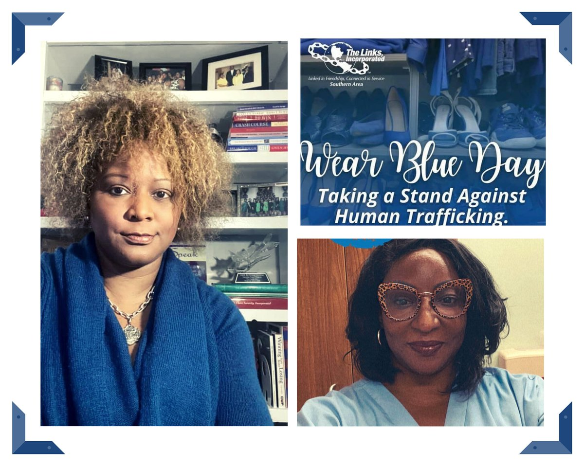 On January 11th members of the Camellia Rose (GA) Chapter of The Links, Incorporated wore blue to Take a Stand Against Human Trafficking   #endhumantrafficking #WearBlueDay #salinksinc #linksinc #camelliaroselinks #collectiveexcellence