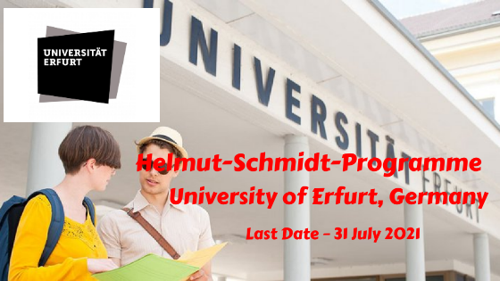 Helmut-Schmidt-Programme at University of Erfurt, Germany