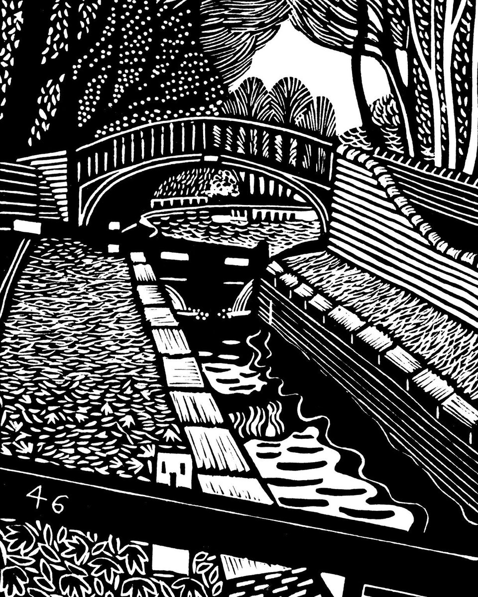See Eric Gaskell's monochrome linocut prints of the UK canal network.   Online Exhibition opening Friday 22 January until 6 March.  Find out more - https://t.co/feqbQ86neq https://t.co/Tp5o6ECRCA