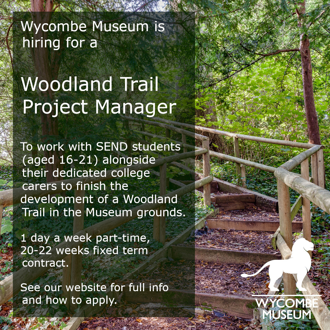 In early 2020 @WycombeMuseum was awarded funding from #iwill for the development of a Woodland Trail Project. They are recruiting for a Woodland Trail Project Manager to oversee and deliver on this project. Deadline 26 Jan. More >>
