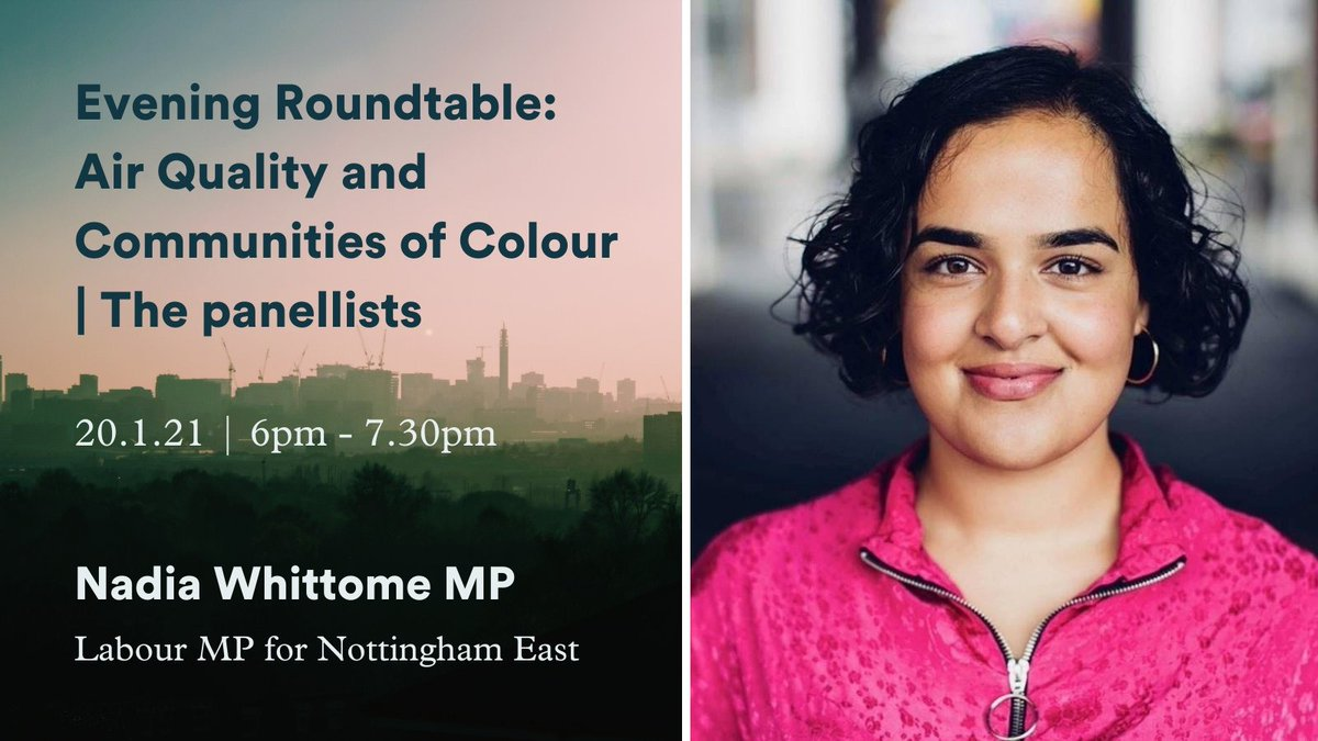 Communities of colour are disproportionately exposed to dangerous levels of air pollution. Ill be discussing how we can tackle this injustice with @APPGairpoll and @airlyorg this evening. Register for the event here 👉🏽 bit.ly/3i6jTmE