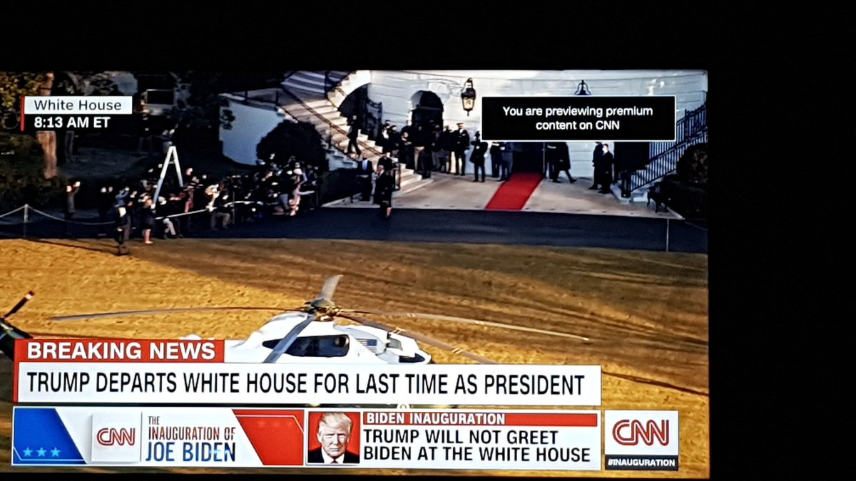 Finally, the orange Furball departs #ByeByeTrump