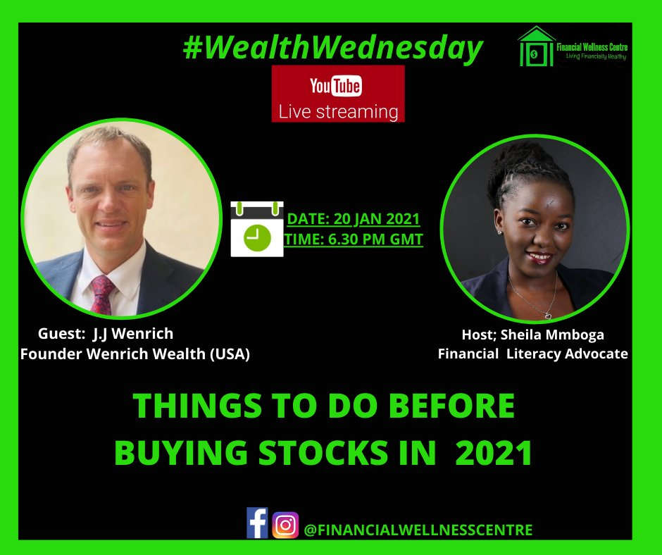 I'm looking forward to chatting with @sheilammboga today at 6:30 PM GMT, which I hope is the same as 10:30 AM in California.    #financialliteracy #financialeducation #financialwellness #podcast #financialeducationpodcast #investing #education