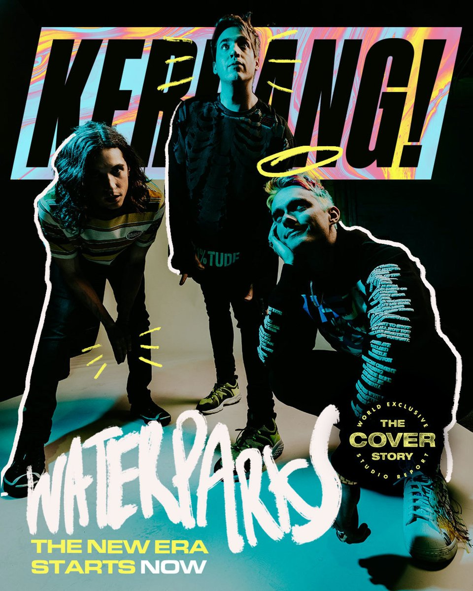 """The Kerrang! Cover Story  """"I was having fun, but also breaking down…"""" Inside the studio for @Waterparks' bold new era  Read the full interview now:   🖊️: @emilycrtr 📸: @JawnRocha"""