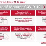 Image for the Tweet beginning: 🔴 Mesures #COVID19 a partir