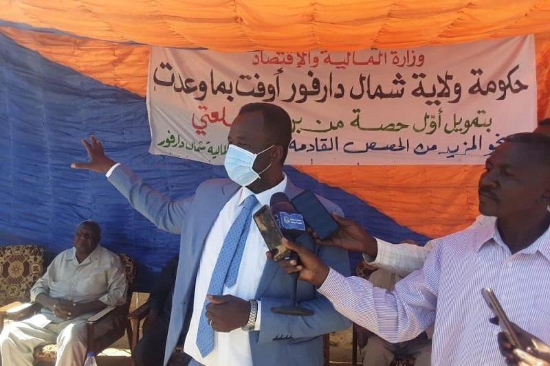والي ولاية شمال دارفور محمد حسن عربي يدشن بالفاشر المرحلة الأولى من برنامج سلعتي   #سونا #السودان