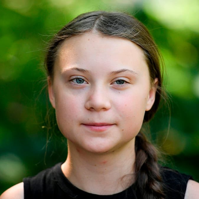 """Greta Thunberg celebrates the end of Donald Trump's presidency with new Instagram post:  """"He seems like a very happy old man looking forward to a bright and wonderful future. So nice to see!"""""""