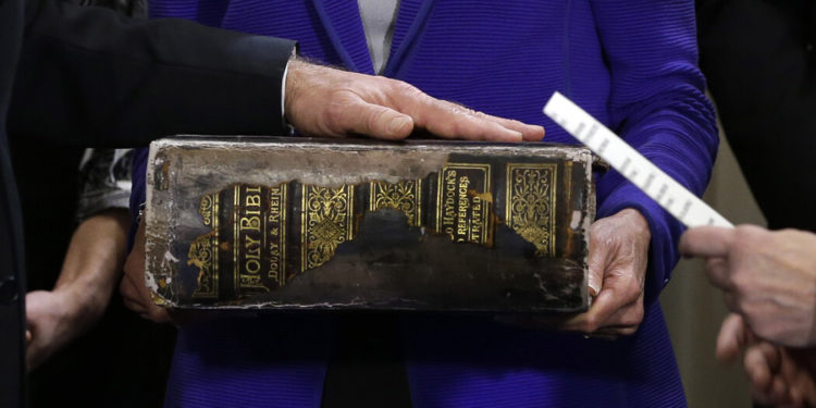 Pretty cool that Biden is being sworn in with a Douay-Rheims Bible.