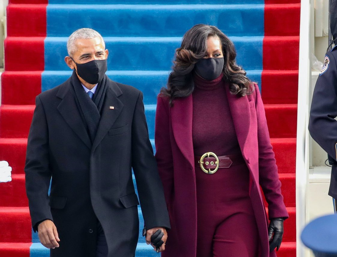 @IAMFASHlON Michelle Obama's hair flip needs to run in 2028 💁🏾♀️💁🏾♀️💁🏾♀️ #InaugurationDay