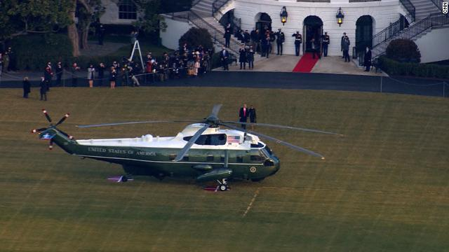 Trump departs from the White House for the last time as President. Follow live updates: