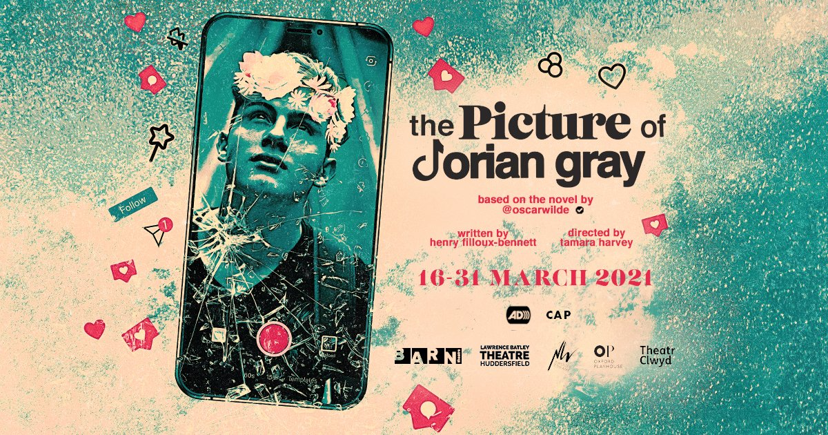 #FionnWhitehead to lead new contemporary digital adaptation of the #OscarWilde classic #ThePictureofDorianGray! 📱  👉   #DorianGray #Theatre #Digital @tamaracharvey
