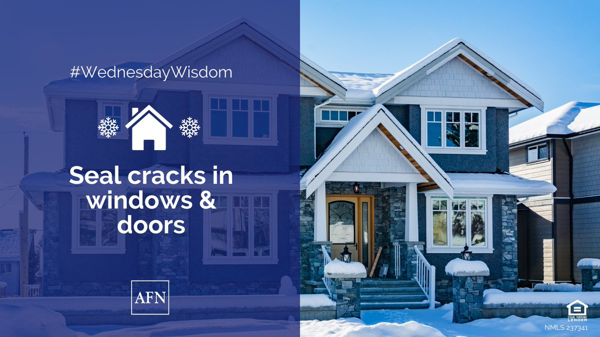 Brrr, it's cold out there! If your #house is feeling a little drafty make sure to check any cracks around windows and doors. #WednesdayWisdom