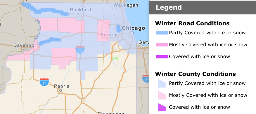 Image posted in Tweet made by IDOT_Illinois on January 20, 2021, 1:35 pm UTC