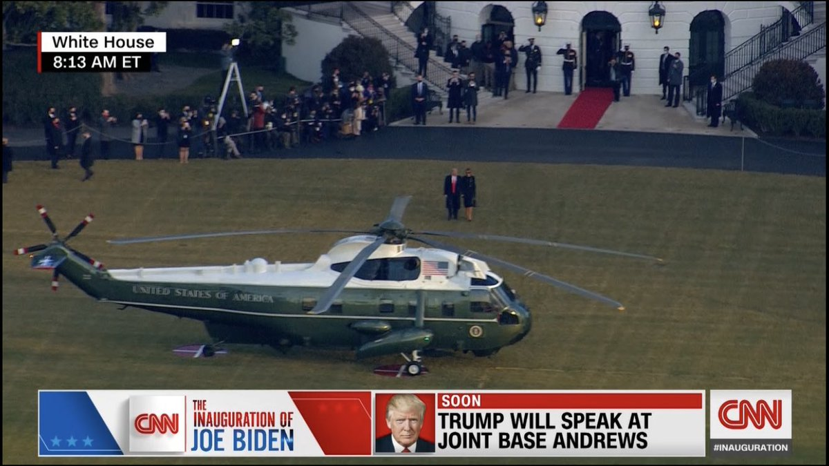 Trump departs white house for the last time as president of the USA.... Click here for more details.   #InaugurationDay #TrumpsLastDay #wednesdaythought #waytooearly